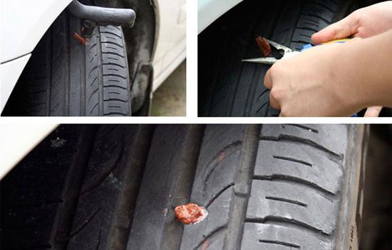 Боковой порез шины ремонт своими руками видео