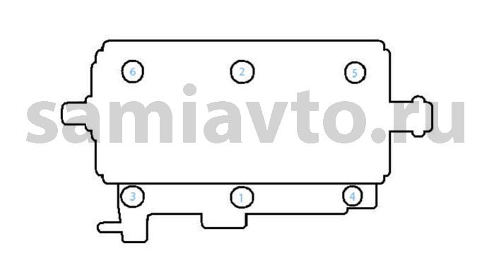 Схема затяжки головки блока ваз 2109 176