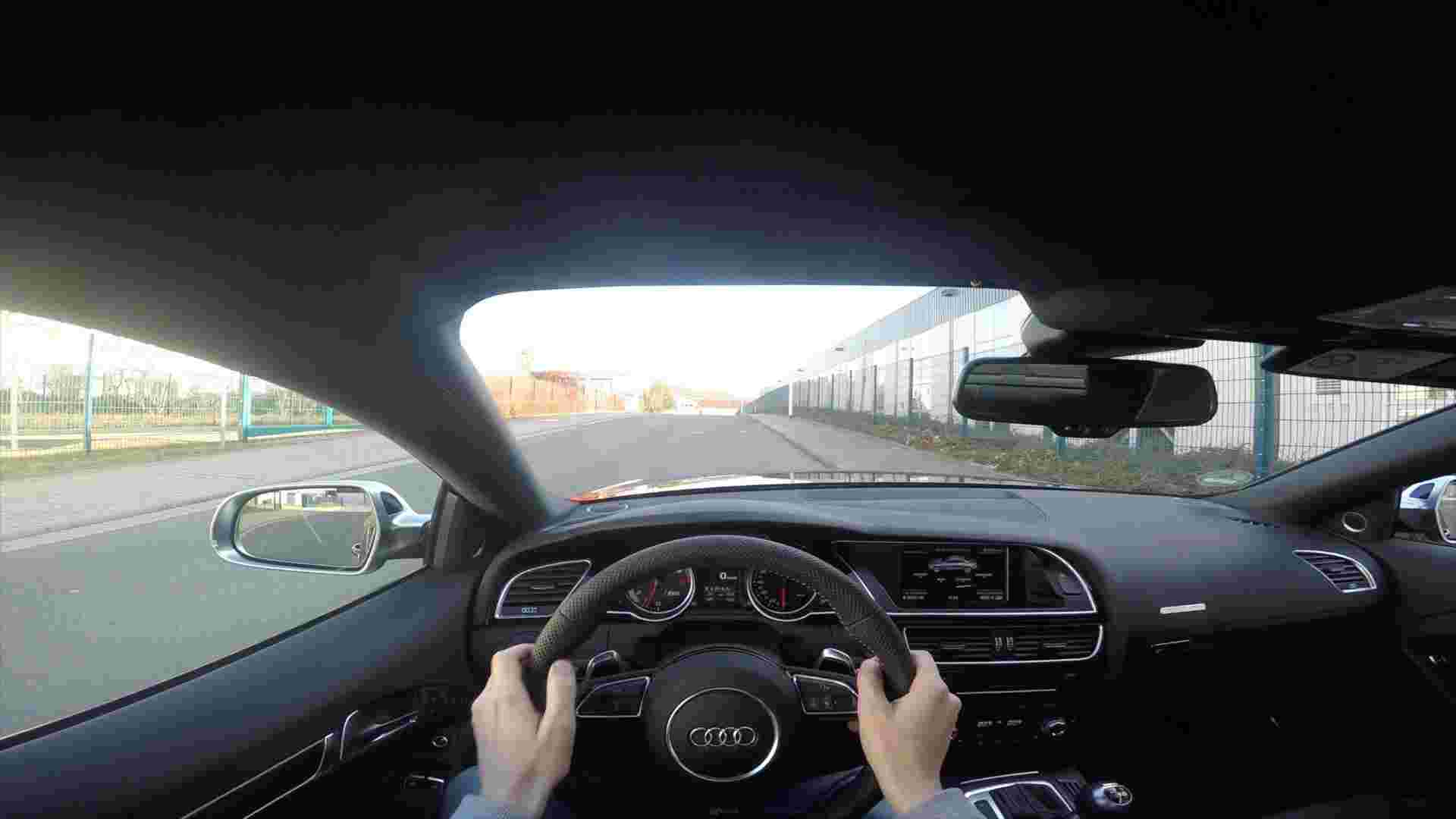 Audi RS5 Coupe  POV Onboard Drive With GoPro Let´s Drive