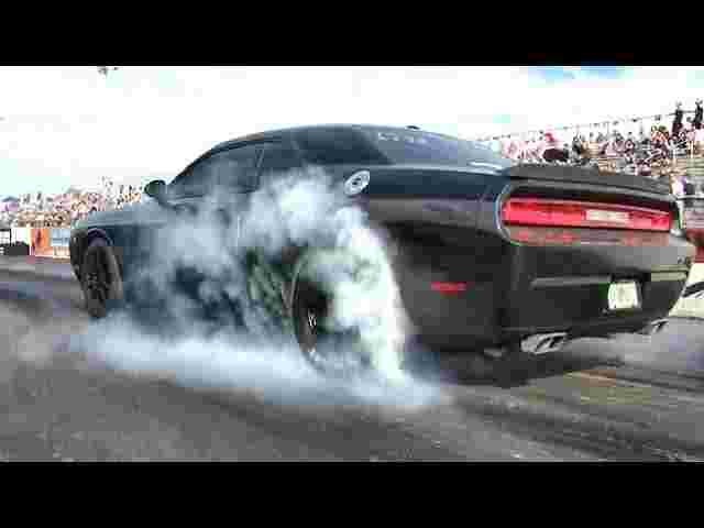 Hellcat Challenger Killer ?? Turbo SRT Challenger v Audi R8 V8 - 1/4 mile Drag Race - Road Test TV